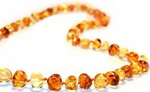he Amber teething necklace